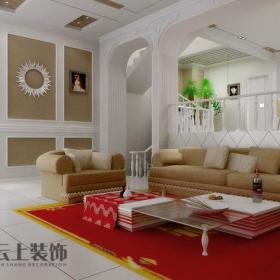 歐式簡歐風格三居客廳沙發裝修效果圖簡歐風格茶幾圖片