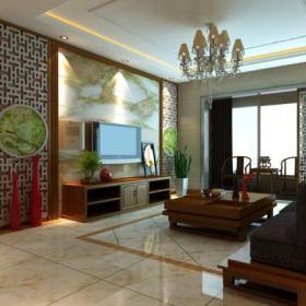 电视背景墙混搭风格客厅电视墙效果图