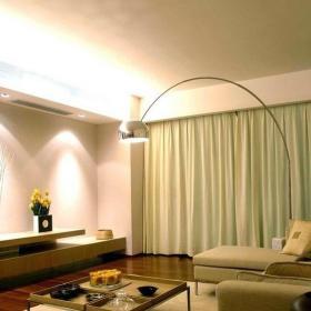 简约风格客厅落地窗帘效果图欣赏