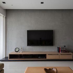地柜家具客厅简约电视柜三居浅灰色电视背景墙装修图片效果图大全