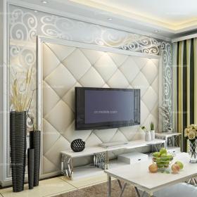 电视柜茶几背景墙现代客厅茶几客厅背景墙软包设计展现时尚电视背景墙效果图欣赏