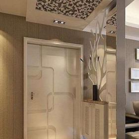 客廳玄關隔斷簡歐風格二居室客廳玄關裝修效果圖