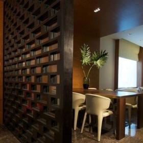 客厅餐厅玄关屏风隔断装修效果图