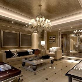吊顶新古典客厅装修效果图