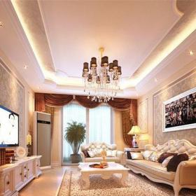 西式古典二居室客廳屏風裝修效果圖大全