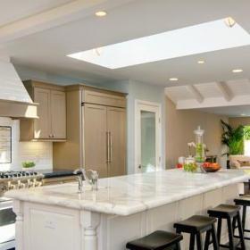 簡歐風格餐廳白領公寓客廳簡潔歐式開放式廚房裝潢效果圖