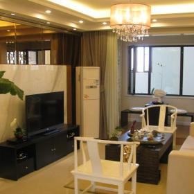 中式风格二居室客厅窗帘装修图片效果图
