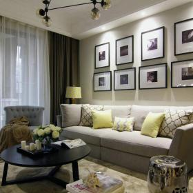 家庭客厅装饰画贴图效果图