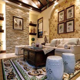 新古典古典新古典风格古典风格客厅别墅图片效果图