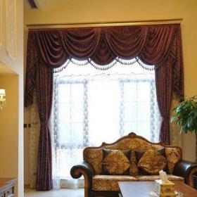 客廳窗簾裝修效果圖