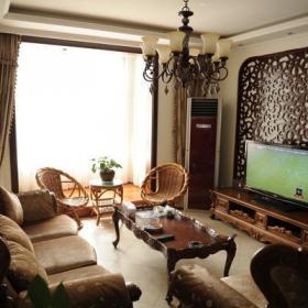 二居电视背景墙古典客厅雕花造型电视墙?#35745;?#27427;赏效果图欣赏