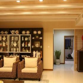储物柜吊顶沙发家居摆件客厅沙发现代风格客厅吊顶装修效果图现代风格展示柜图片