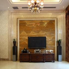 欧式客厅电视背景墙古典电视墙效果图