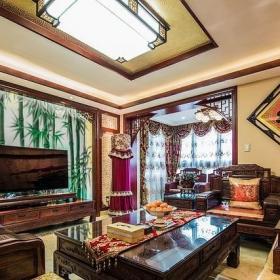 复古中式古典客厅装饰效果图