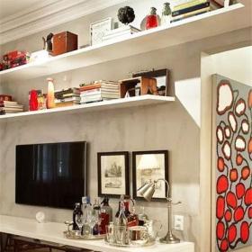 客厅电视柜收纳柜实用电视背景墙效果图大全