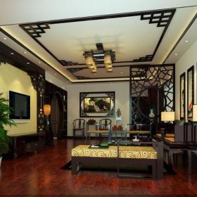 中式风格客厅背景墙装修效果图中式风格边几图片