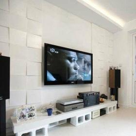 時尚簡約客廳瓷磚效果圖