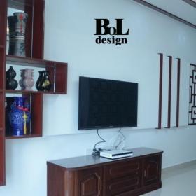 新中式客廳電視背景墻裝飾效果圖