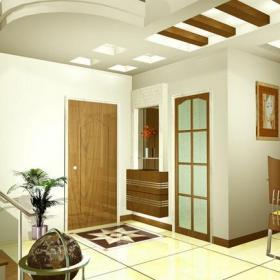现代简约客厅玄关造型装修效果图