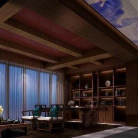 中式古典四居室客廳窗簾裝修效果圖大全