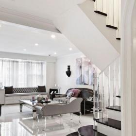 复式挑高客厅背景效果图