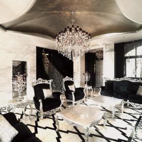 新古典风格客厅地面拼花装修效果图新古典风格边几图片