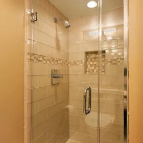 马赛克背景墙卫生间客厅背景墙80㎡小空间淋浴房设计效果图