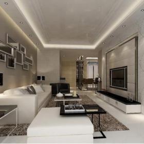 電視背景墻背景墻現代風格三居室客廳沙發背景墻裝修效果圖現代風格電視背景墻圖片