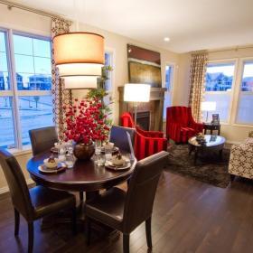 客廳餐廳一體 餐廳窗簾效果圖