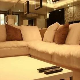 简约风格二居室5-10万70平米客厅沙发新房设计图效果图