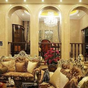 混搭风格简欧风格别墅奢华豪华型客厅沙发图片效果图