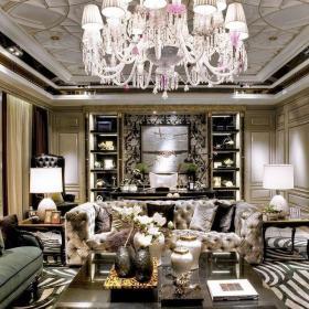 新古典古典新古典风格古典风格客厅装修效果展示效果图