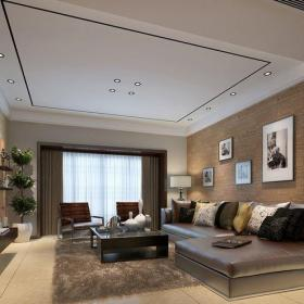 其它三居室客厅吊顶装修效果图