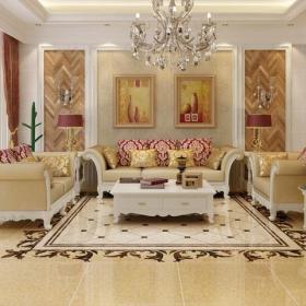 別墅家居客廳瓷磚效果圖