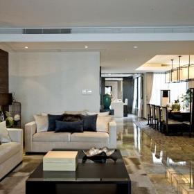 106㎡三居室東南亞風格客廳背景墻裝修效果圖東南亞風格雙人沙發圖片