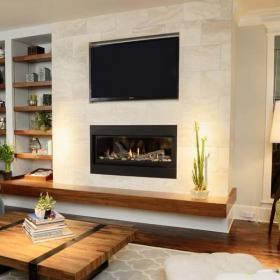 客厅石材背景墙设计效果图