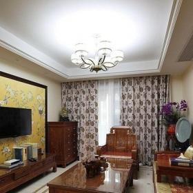 古樸中式客廳設計裝飾效果圖