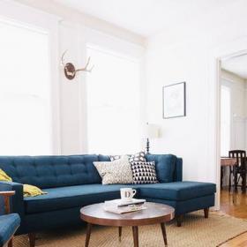 白色混搭客厅136㎡混搭风格三居室客厅效果图