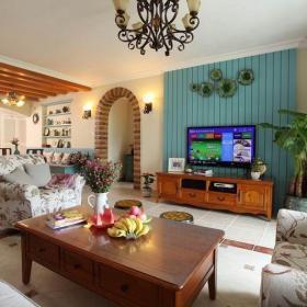 實木家具混搭式客廳裝飾效果圖