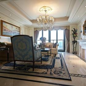 臺燈裝飾畫家具簡歐地毯客廳吊頂客廳吊燈大戶型客廳方形吊頂裝修圖片效果圖