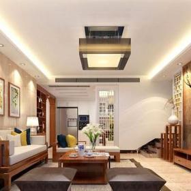 中式风格温润素雅中式装修客厅电视背景墙效果图