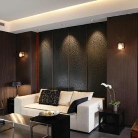 中式客厅博古架展示效果图大全效果图