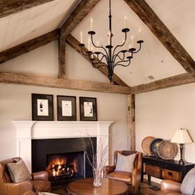 歐式客廳二居室歐式風格客廳咖啡色茶幾裝修實景圖效果圖