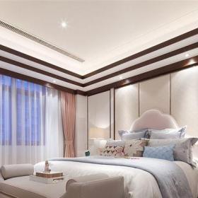 中式风格四居室客厅窗帘装修图片效果图