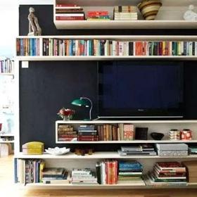 客厅电视柜收纳柜实用电视背景墙装修设计图效果图