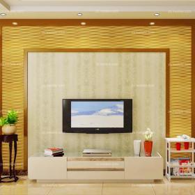 電視背景墻黃色電視柜背景墻80㎡二居客廳背景墻添一份潮色,現代客廳更搶眼裝修效果圖