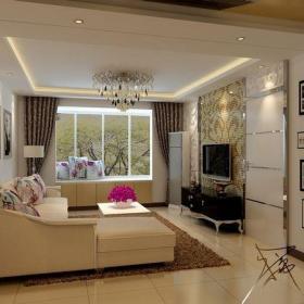 現代電視背景墻客廳馬賽克背景墻效果圖