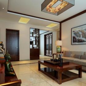 中式风格二居室客厅酒柜装修效果图大全
