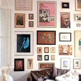 背景墙客厅照片墙变身家居风景线客厅照片墙变身家居风景线效果图