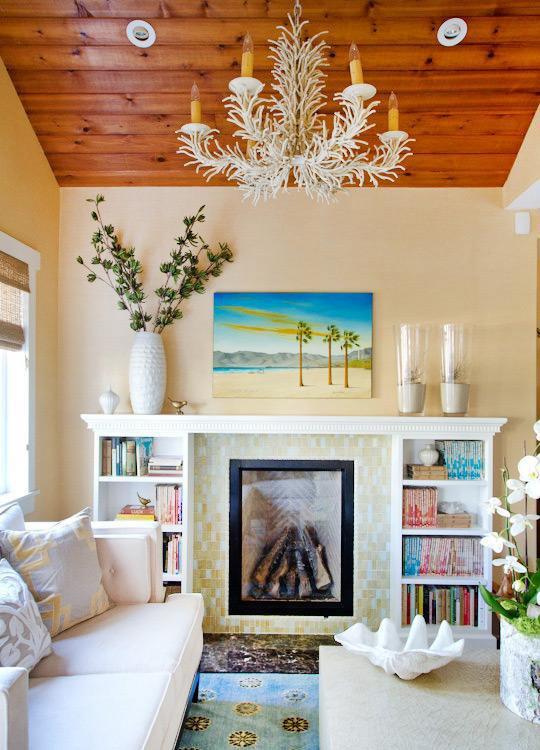 清新吊顶背景墙单身公寓吊顶客厅背景墙很窝心的客厅布局设计效果图欣赏
